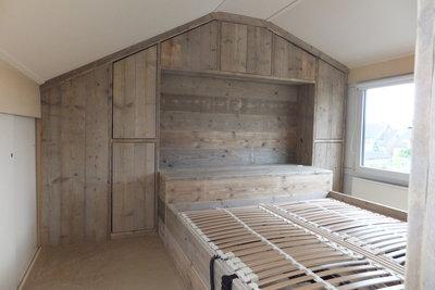 Maatwerk steigerhouten bedombouw - jl-meubelmaatwerk